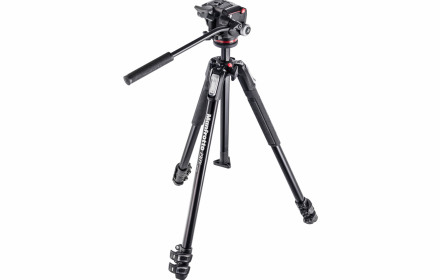 Manfrotto 190x štatyvas su video galva