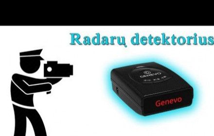 Radarų detektorius Genevo ONE LT PLUS M