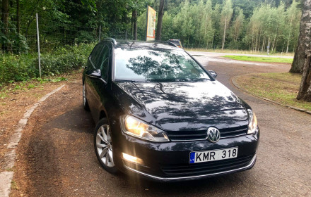 VW GOLF 7 2014, 1.6TDI, 81KW, BE UŽSTATO