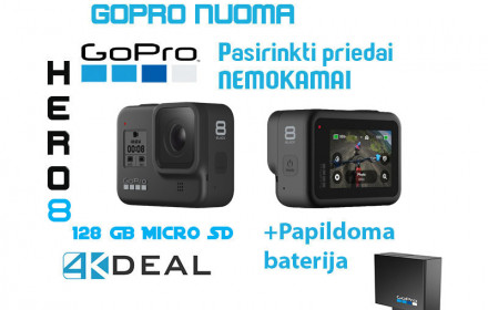 GoPro Hero 8 Black su 128 GB atmintimi