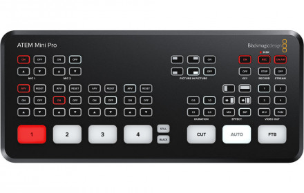 Blackmagic ATEM Mini PRO, Live Stream Sw