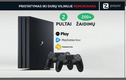 Playstation 4 pro PS4 800 žaidimų