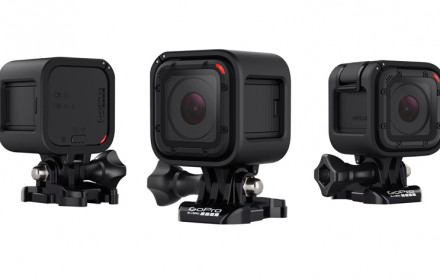 GoPro Hero 4 Session su priedais