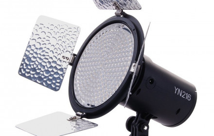 Yongnuo YN216 LED Spot'as ir baterija